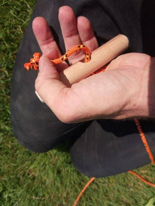 Knoopwerk touw zonnestralenspel